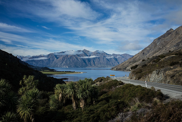 Highway escape on the Haast Pass