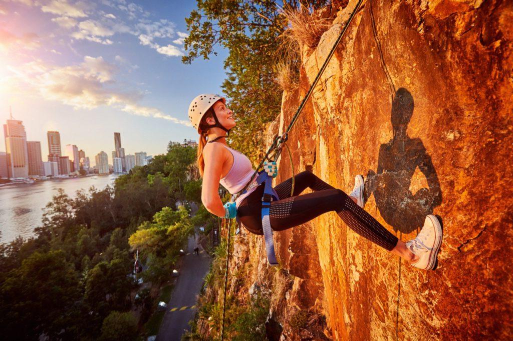rock climbing at Kangaroo Point Cliffs in Brisbane
