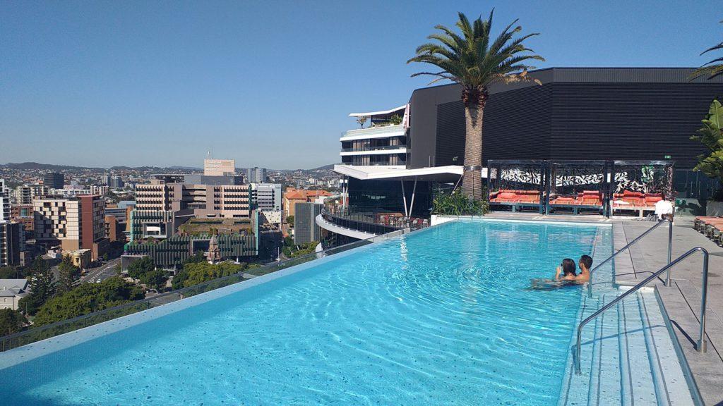 Emporium Hotel rooftop pool Brisbane