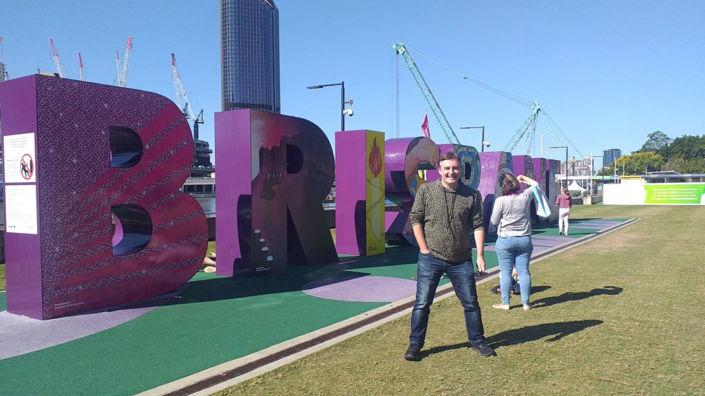 Mike Yardley in Brisbane