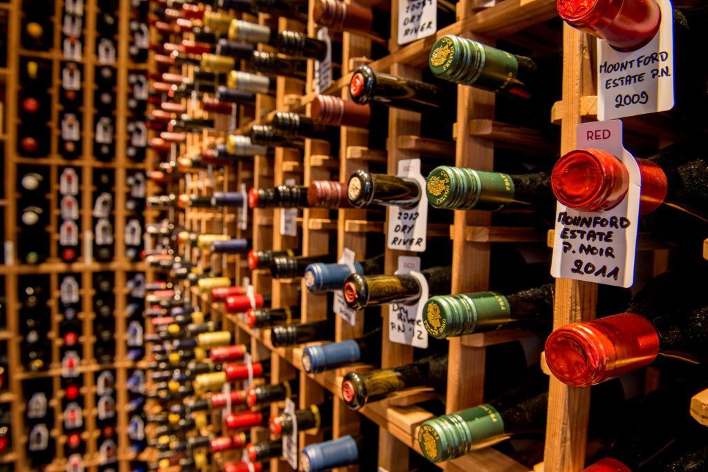 Bordeaux wine cellar at the rees hotel